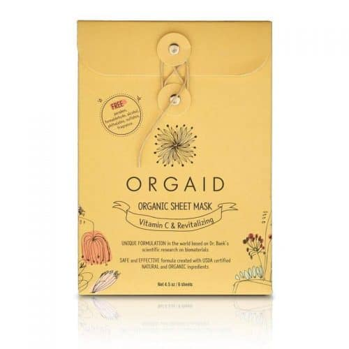 Orgaid Vitamin C and Revitalizing Organic Sheet Mask