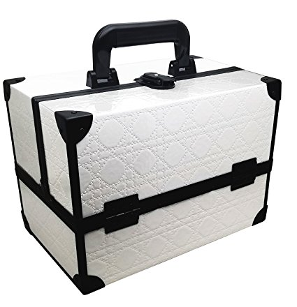 Ikee Design White Cosmetic Travel Carrying Box