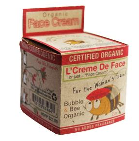 Bubble & Bee Organic Certified Organic Face Cream