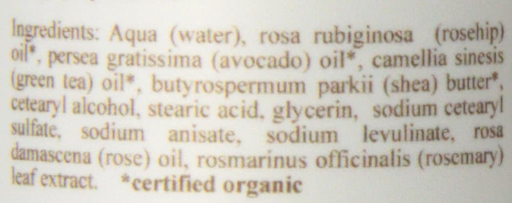 Cocoon Apothecary Rosey Cheeks Facial Cream Ingredients