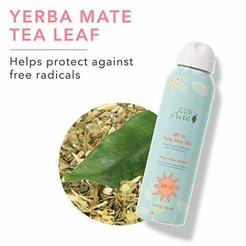 100% Pure Yerba Mate Mist SPF 30 Sunscreen