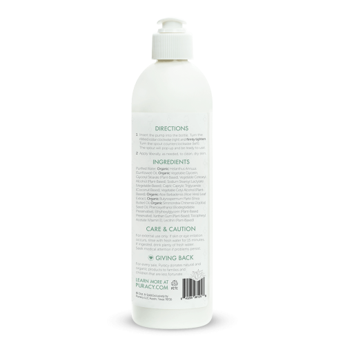 Puracy Organic Hand & Body Lotion Directions