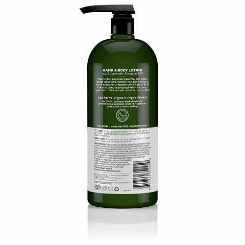 Avalon Organics Nourishing Lavender Lotion Back Label