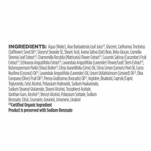 Avalon Organics Nourishing Lavender Lotion Ingredients