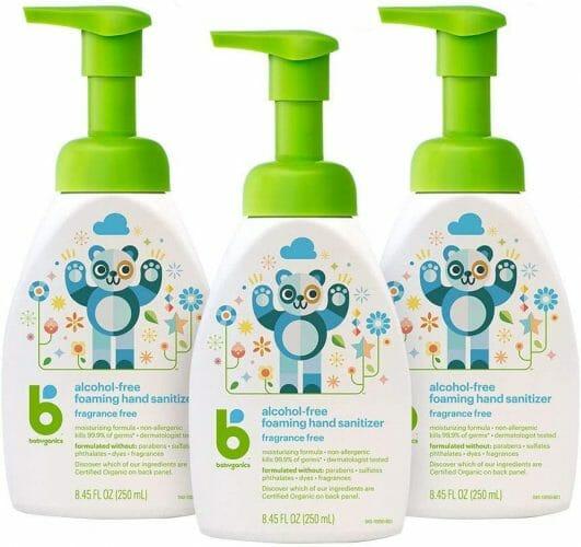 Foaming Pump Hand Sanitizer Babyganics
