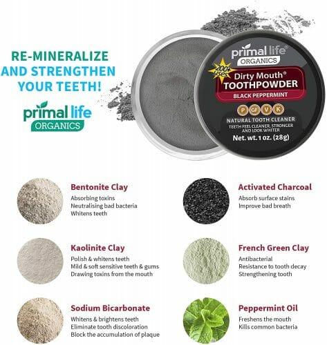 Primal Life Organic Dirty Mouth Tooth Powder Black