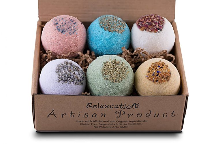 Relaxcation Organic Vegan Bath Bombs