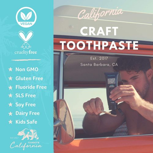 Cali White Activated Charcoal Toothpaste Vegan