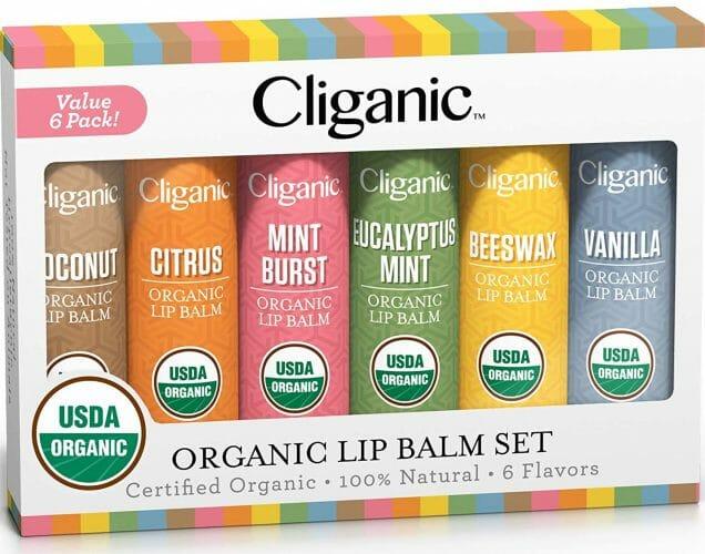 Cliganic USDA Organic Lip Balm Set