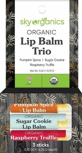 Organic Holiday Lip Balm Trio by Sky Organics