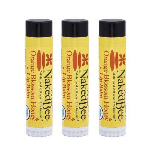 The Naked Bee Organic Orange Blossom Honey Lip Balms