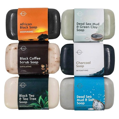 O Naturals 6-Piece Black Bar Soap Collection