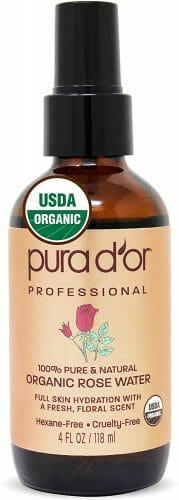 PURA D'OR USDA Organic Rose Water Toner