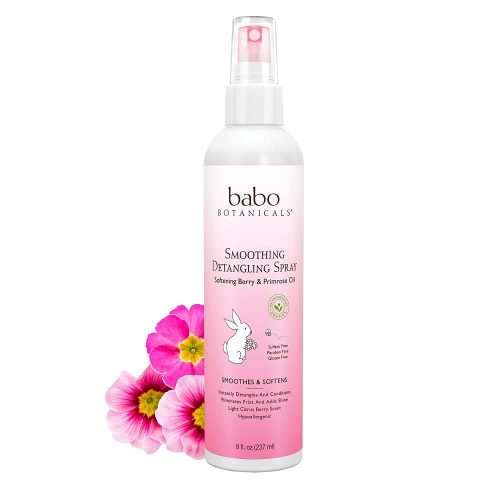 Babo Botanicals Smoothing Detangling Spray with Natural Berry and Evening Primrose Oil