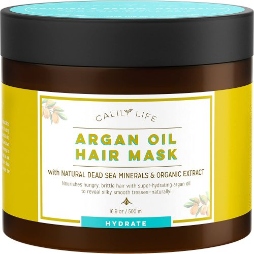 Calily Life Organic Moroccan Argan Oil Hair Mask with Dead Sea Minerals